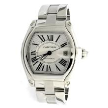Cartier Roadster Stainless Steel Mens Watch