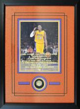 Kobe Bryant #24 Los Angeles Lakers Achievement with Replica Ring (Framed)