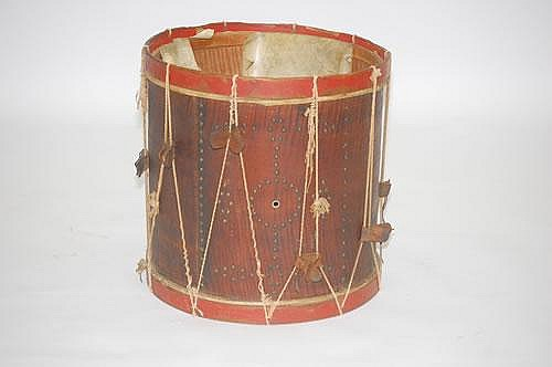 1824 ELI BROWN LABELED TIGER MAPLE PARADE SNARE DRUM