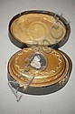 EARLY 19TH CENT. CONTINENTAL GILT BRASS SNUFF BOX W/ CAMEO PORTRAIT