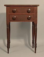 N.E. SHERATON PAINTED (2) DRAWER STAND