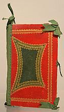 LARGE 19TH CENT. BOOK FORM NEEDLE CASE PIN CUSHION