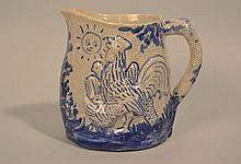 DEDHAM POTTERY DAY AND NIGHT PITCHER