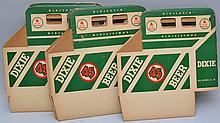 (10) VINTAGE FOLDING DIXIE BEER ADVERTISING BOTTLE TOTES