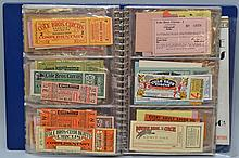COLLECTORS ALBUM OF VINTAGE CIRCUS ADMISSION TICKETS