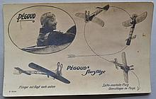 VINTAGE PHOTO POSTCARD OF FAMOUS EARLY FRENCH AVIATOR ADOLPHE CELESTIN PEGOUD