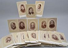 (171) 19TH CENT. WILLIAM NOTMAN CABINET PORTRAIT PHOTOGRAPHS