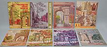 (9) N.Y. WASHINGTON SQUARE OUTDOOR ART EXHIBIT PROGRAM MAGAZINES FRON THE 1950'S-1960'S