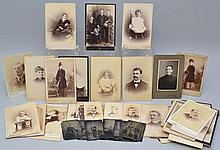 (58) 19TH CENT. PORTRAIT PHOTOGRAPHS INCL. TIN TYPES, C.D.V.'S AND CABINET PHOTOGRAPHS