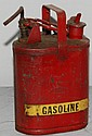 VINTAGE PROTECTOSEAL CO. RED PAINTED METAL GASOLINE CAN