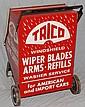 TRICO WINDSHIELD WIPER PAINTED METAL RETAIL FLOOR STANDING ADVERTISIND DISPLAY CART