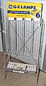G.E. LAMP BULBS ADVERTISING FLOOR DISPLAY RACK W/ BOX