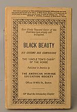 Black Beauty His Grooms and Companions by A. [Anna] Sewell - FIRST AMERICAN EDITION