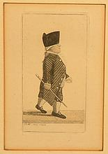 MINIATURE ENGRAVING OF 18TH CENT. GENTLEMAN BY BRITISH CHARACTORIST JOHN KAY DATED 1792