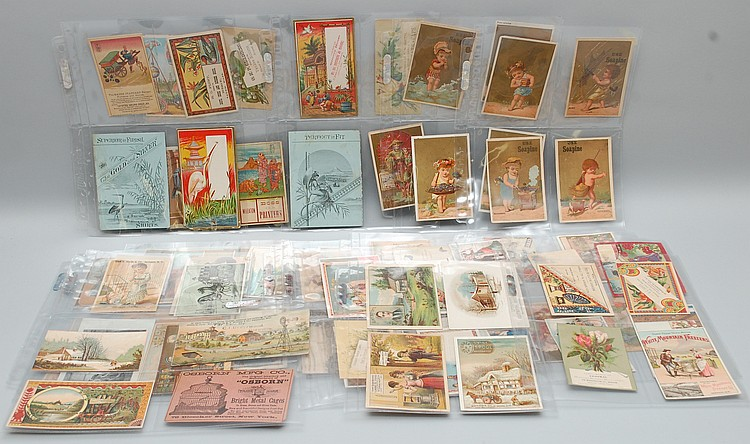 (80) MISC. 19TH CENT. VICTORIAN TRADE CARDS