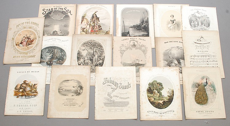 (16) PCS. MISC. 19TH CENT. SHEET MUSIC
