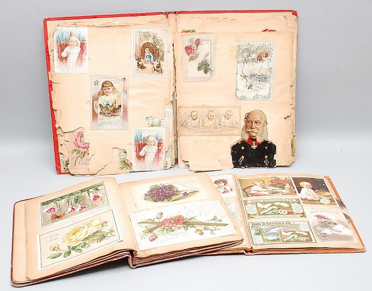 (3) MISC. 19TH CENT. VICTORIAN SCRAP BOOKS