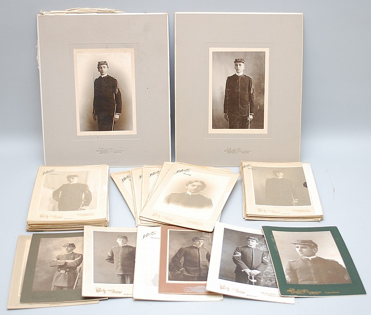 (41) MISC. 19TH CENT. MILITARY SCHOOL GRADUATION PHOTOGRAPHS