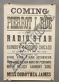 (3) EARLY 20TH CENT. CONCERT SHOW ADVERTISING BROADSIDES