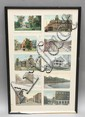 FRAMED COLLECTION OF (10) MISC. BRATTLEBORO VERMONT POSTCARDS