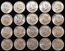 20 U.S. SILVER 1964 KENNEDY HALF DOLLARS ($10.00 FACE VALUE)