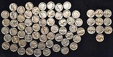 70 BUFFALO NICKELS - 10 ARE DATED & 60 HAVE NO DATES