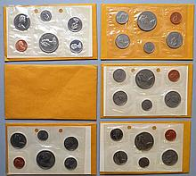 3 1969 & 3 1970 CANADIAN PROOF SETS ($11.46 FACE VALUE)