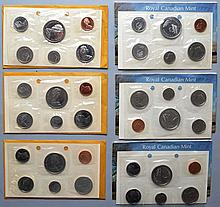 3 1971 & 3 1973 CANADIAN PROOF SETS ($11.46 FACE VALUE)