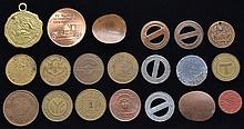 20 MISC. TRANSIT TOKENS AND MEDALLIONS