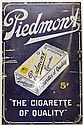 LARGE VINTAGE PIEDMONT CIGRETTES ENAMELED ADVERTISING SIGN