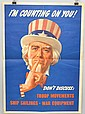 WW II POSTER WITH UNCLE SAM