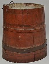 19TH CENT. N.E. PAINTED PRIMITIVE SAP BUCKET