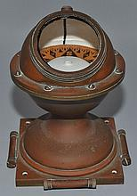 VINTAGE KELVIN-WHITE CO. COPPER CASED SHIP'S COMPASS