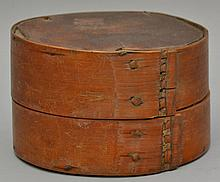 19TH CENT. AMERICAN INDIAN MADE ROUND BANDED PANTRY BOX