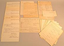 ARCHIVE OF 1867 ARMY WAR DEPARTMENT QUARTERMASTER'S DOCUMENTS FROM PINE BLUFF ARKANSAS