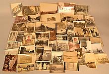 LOT OF 19TH & EARLY 20TH CENT. SNAP SHOT AND SMALL ALBUMIN PHOTOGRAPHS