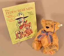 1998 LIMITED EDITION STEIFF TEDDY'S BEAR NO. 06414 WITH TEDDY BEAR MEN BOOK