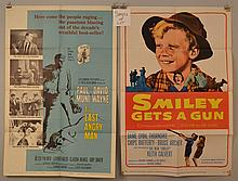 (6) MISC. VINTAGE MOVIE ADVERTISING POSTERS FROM THE 1940'S - 1960'S