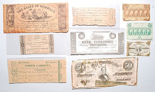 (9) MISC. BANK NOTES