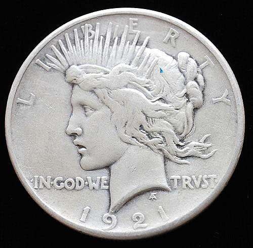 1921 U.S. PEACE SILVER DOLLAR