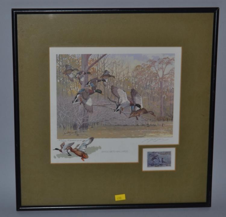 Framed arkansas game and fish commission waterfowl hunting a for Arkansas game and fish commission