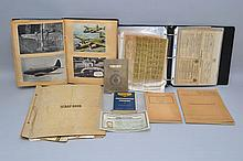 COLLECTION OF W.W. II RATION STAMPS, SCRAP ALBUMS AND PAPER EPHEMERA
