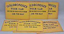 (23) VINTAGE GOLDBONDIZED PAINTED CARD ADVERTISING SIGNS