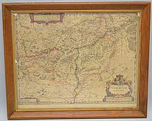 HENRICUS HONDIUS 1632 MAP OF PART OF BELGIUM TITLED NAMURCUM COMITATUS