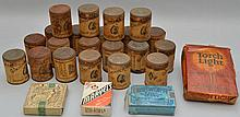 (21) VINTAGE TOBACCO SNUFF TINS AND (4) TOBACCO PACKAGES