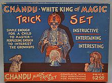 VINTAGE CHANDU WHITE KING OF MAGIC TRICK SET BOXED TOY