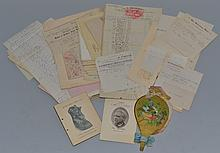 ARCHIVE OF 19TH CENT. PAPER EPHEMERA OF THE HEIDELBERG HOTEL IN NEW LONDON N.H.