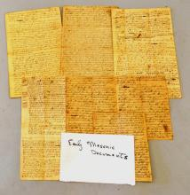 LOT EARLY 19TH CENT. MASONS DOCUMENTS/LETTERS