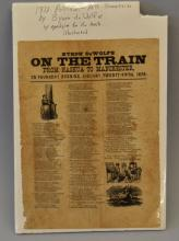 19TH CENT. POLITICAL NEW HAMPSHIRE BROADSIDE
