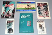 LOT (6) EARLY 20TH CENT. BICYCLE BROCHURES